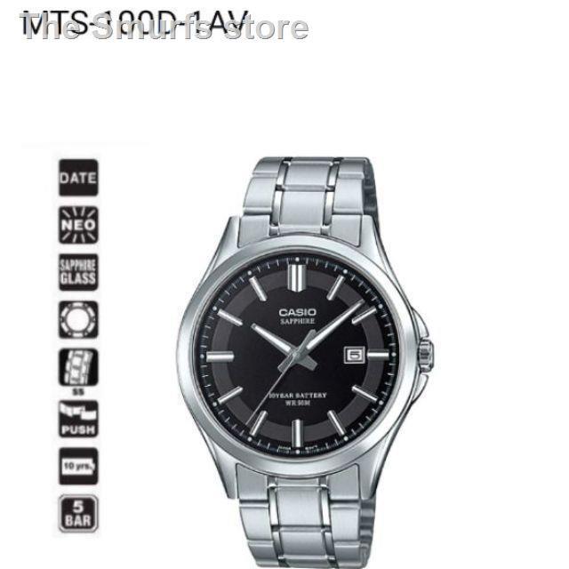 ✔❍▼CasioStandard นาฬิกาข้อมือผู้ชาย สายสแตนเลส รุ่น MTS-100D-1AVDF