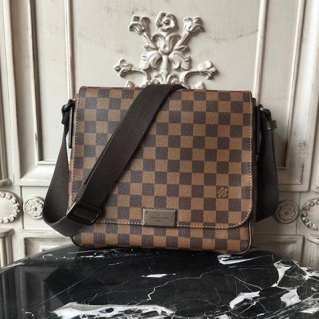 Louis_Vuitton_LV_Bag Original Damier Ebene District Bag Pm N41213 Size:27*8*23cm