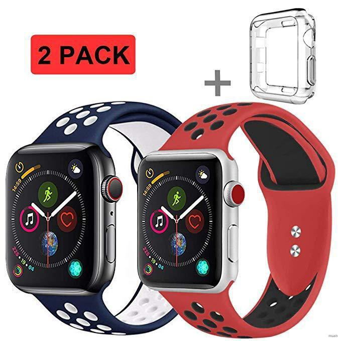 สายรัดข้อมือซิลิโคนสำหรับ applewatch 44 มม 40มม สายนาฬิกา iwatch series 6 se 5 4