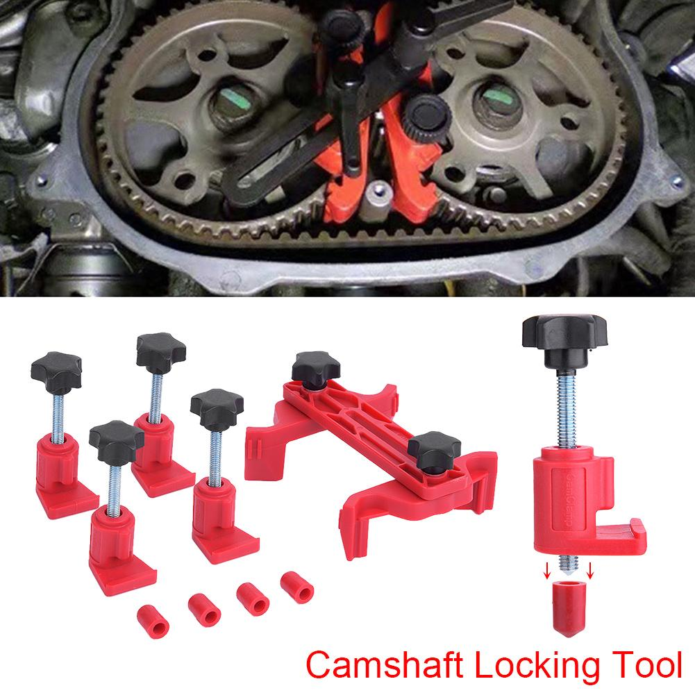 5Pcs//Set Universal Dual Cam Clamp Camshaft Timing Sprocket Gear Locking Tool Kit