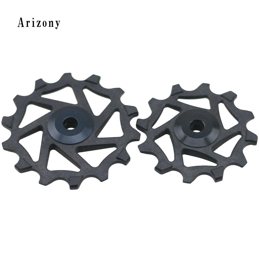 Aluminum 12T Bicycle Narrow Wide Jockey Wheels Ceramic Bearing Derailleur Pulley