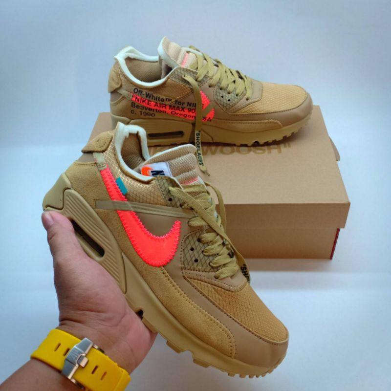 Nike Airmax 90 X Offwhite รองเท้าผ้าใบแฟชั่นสีขาว