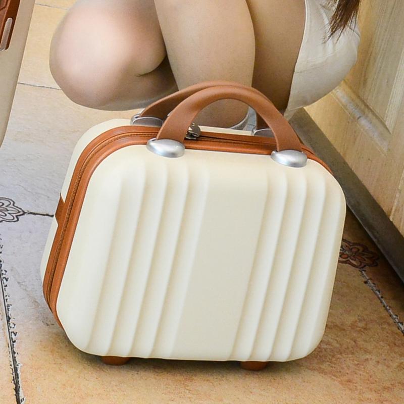 กระเป๋าแล็ปท็อป น่ารักกระเป๋าเดินทางกระเป๋าเดินทางขนาดเล็ก 14 นิ้วแบบพกพาแต่งหน้าแต่งหน้าความจุขนาดใหญ่ความจุล้างถุงเก็บ