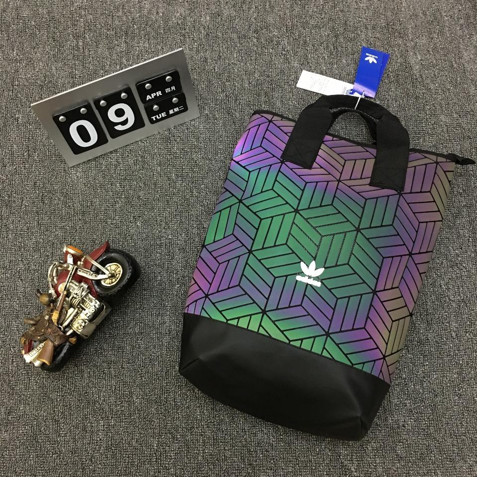 ของแท้ AdidasBP ROLL TOP 3D men39s and women39s backpack DV0202 DV0201 Rubik39s cube diamond fashion backpack เดินทาง นั