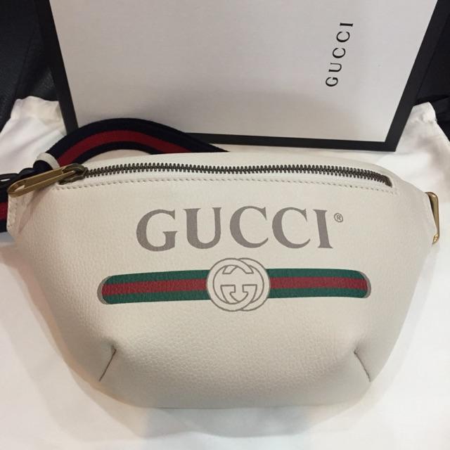 New gucci belt bag mini ไซส์ 90 สีขาว