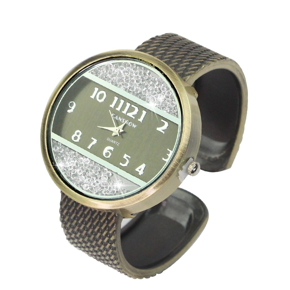 Telecorsa นาฬิกาข้อมือแฟชั่นสำหรับผู้หญิง รุ่น Sparkling-circle-dial-quartz-fashion-watch-05e-K2