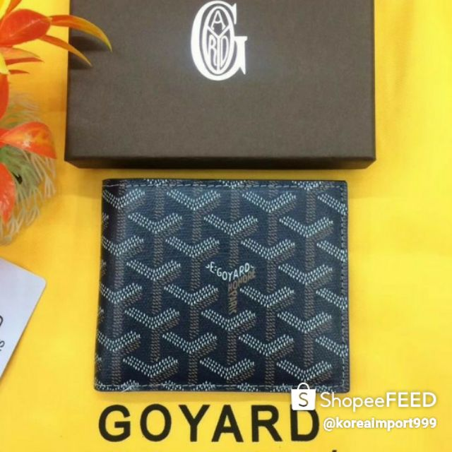 💯GOYARD VICTOIRE SHORT SMALL BIFOLD  WALLET NAVY BLUE 💯