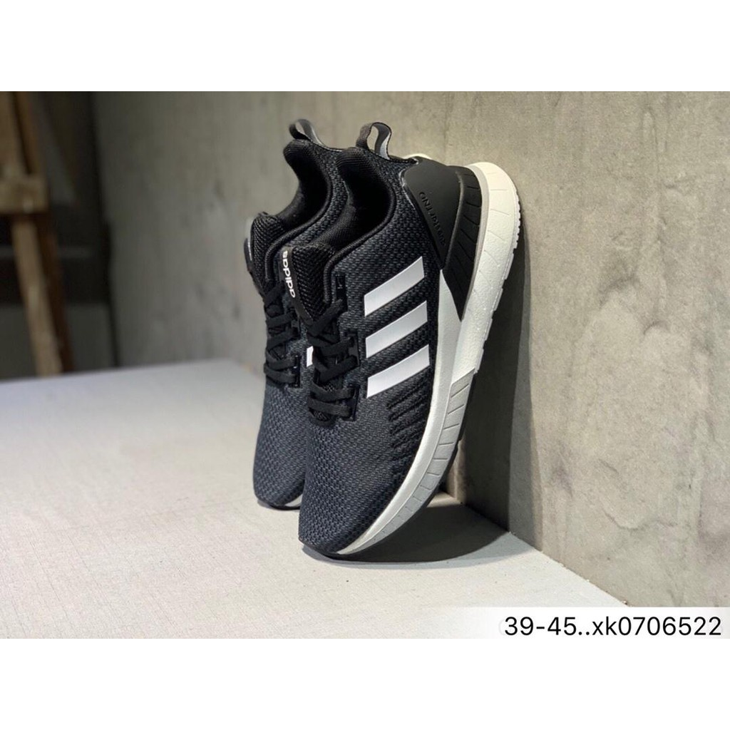 (adidas) QUESTAR TND men's running shoes sneakers breathable FVV383black and white ฿1,473