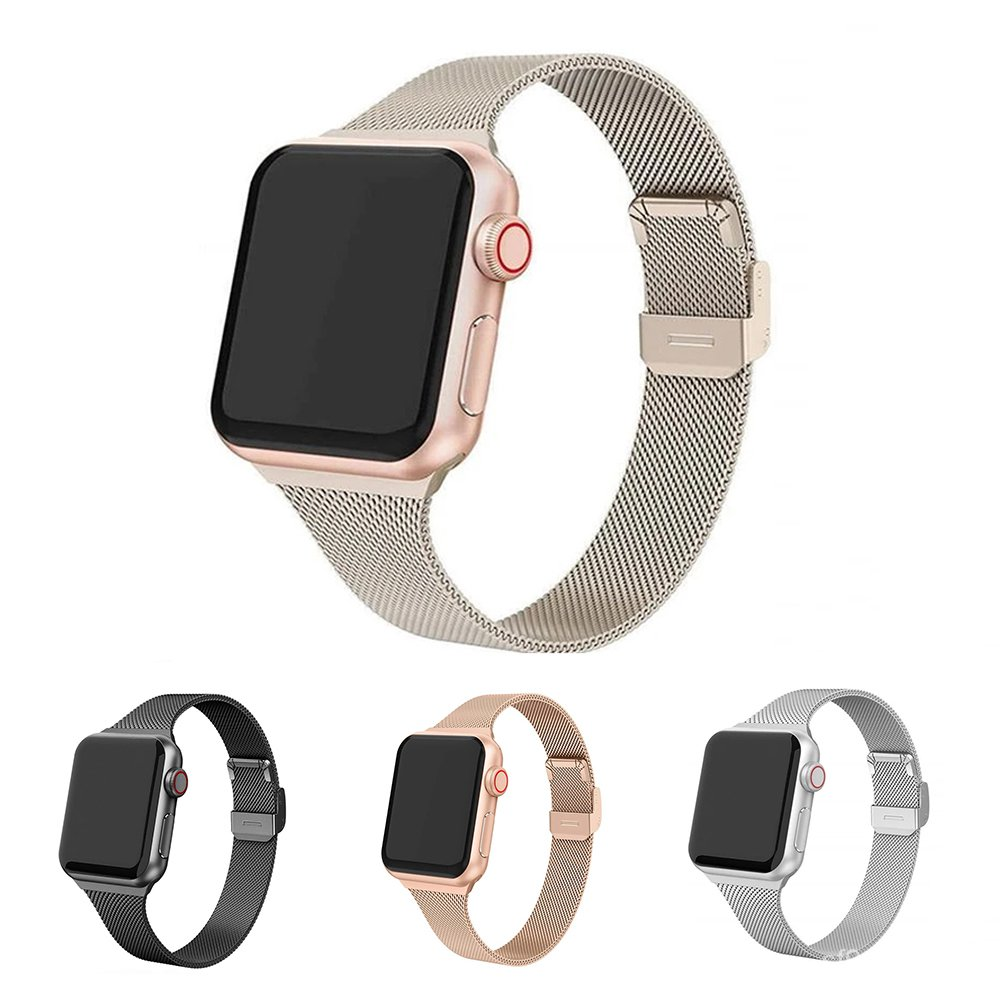 Milanese Loop Strap For Apple Watch 6 5 4 Band Stainless Steel 38mm 42mm 40MM 44MM Metal Bracelet for iWatch Series Acce