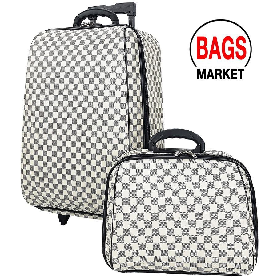 กระเป๋าเดินทางล้อลาก Luggage WHEAL  ระบบรหัสล๊อค เซ็ทคู่ 22/14 นิ้ว Louise White/Crea กระเป๋าล้อลาก กระเป๋าเดินทางล้อลาก