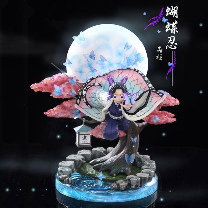 Please COD25cm Girl PVC Action Figure Toys Kochou Shinobu Collection Model Doll Gift Demon Slayer Kochou Shinobu Anime F