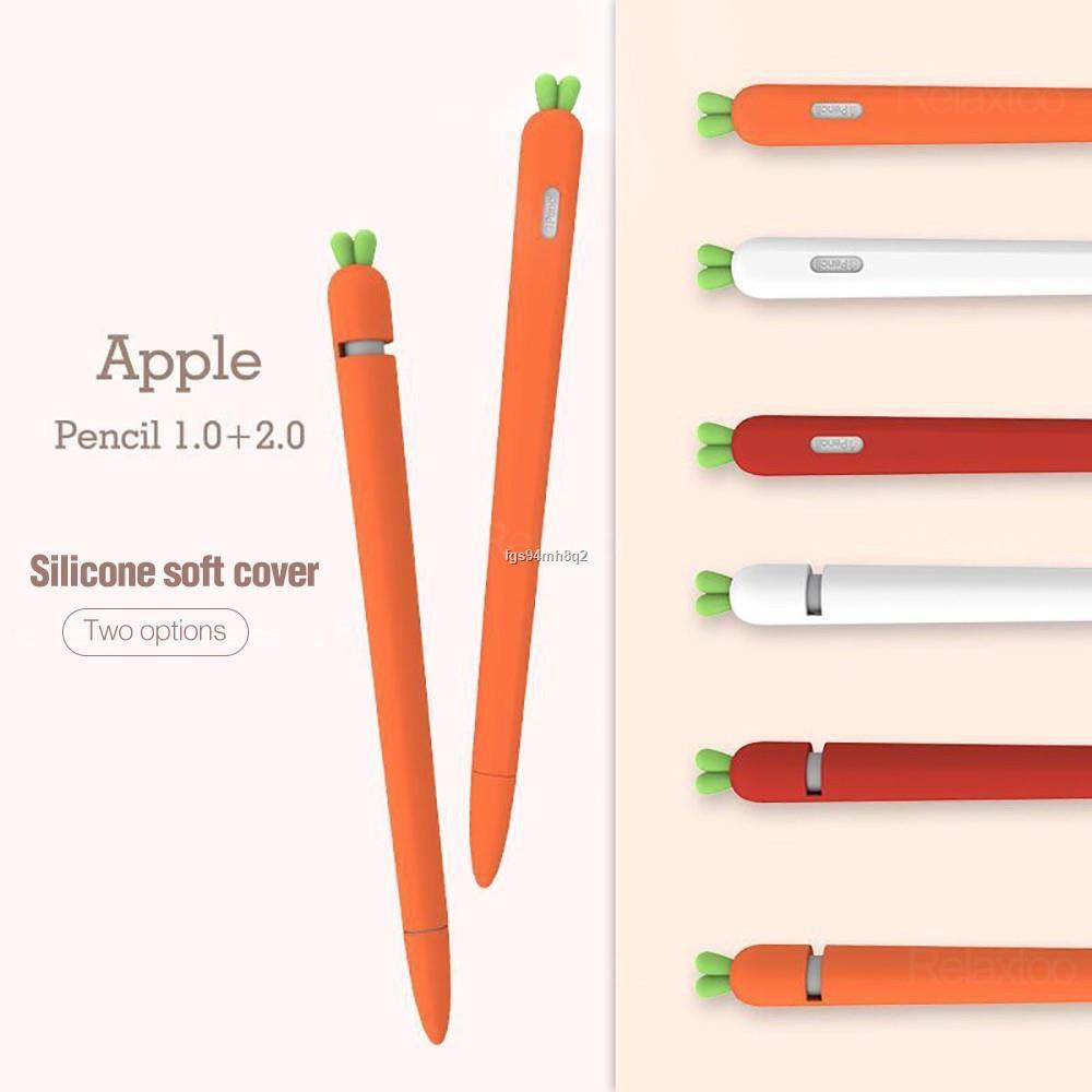 ถูกที่สุด✽™☂เคสซิลิโคน แครอท ❤️ถูกมาก พร้อมส่ง❤️ new Cute Carrot Silicone Apple Pencil 2/1 Case For iPad Tablet Touch P
