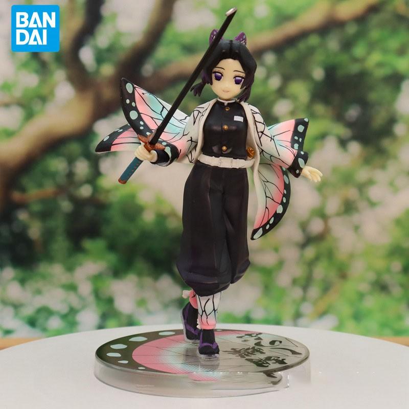 ✢BANDAI ของแท้ 18 ซม. PVC Action Figure Demon Slayer Kochou Shinobu หนอนคอลัมน์ฉากอะนิเมะของเล่นรูปกล่อง