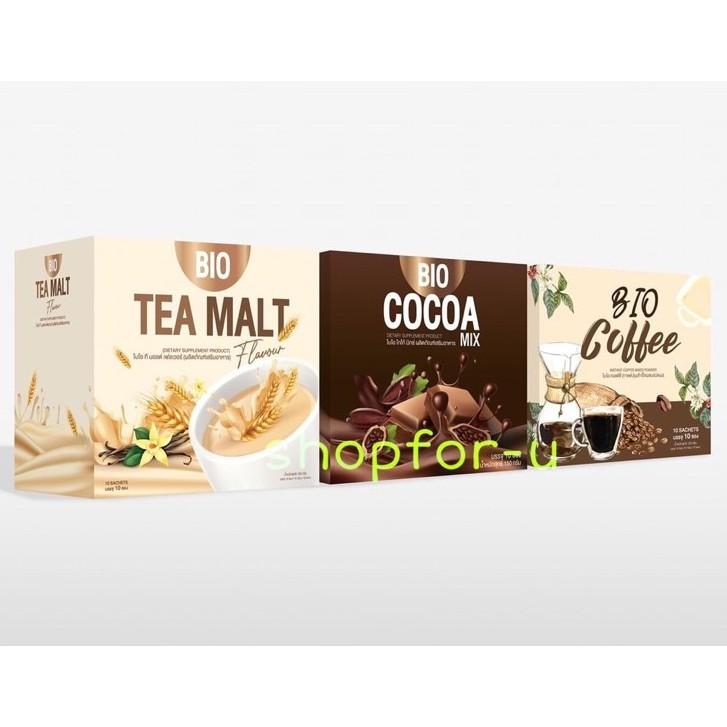 ไบโอโกโก้ กาแฟ ชาไวท์มอลต์แบรนด์คุณจันทร์ bio cocoa bio coffee bio tea malt