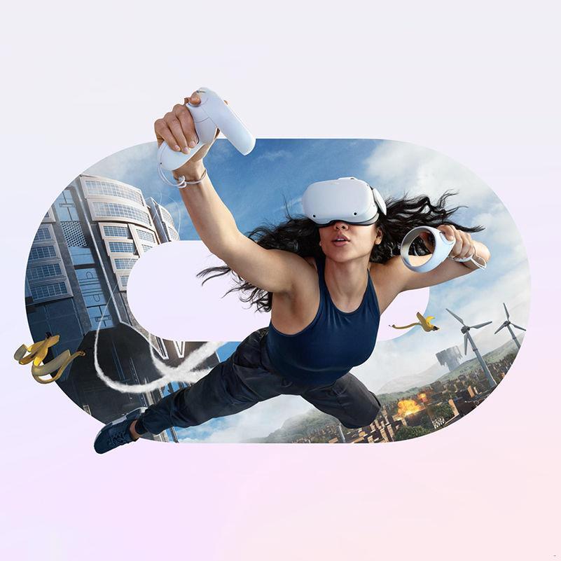 แว่นตา VR แว่นตาเสมือนจริง 3 มิติสำหรับเกมสมาร์ทโฟน Android ของ iPhone♕มีร้านใน Shanghai Oculus quest 2nd generation VR