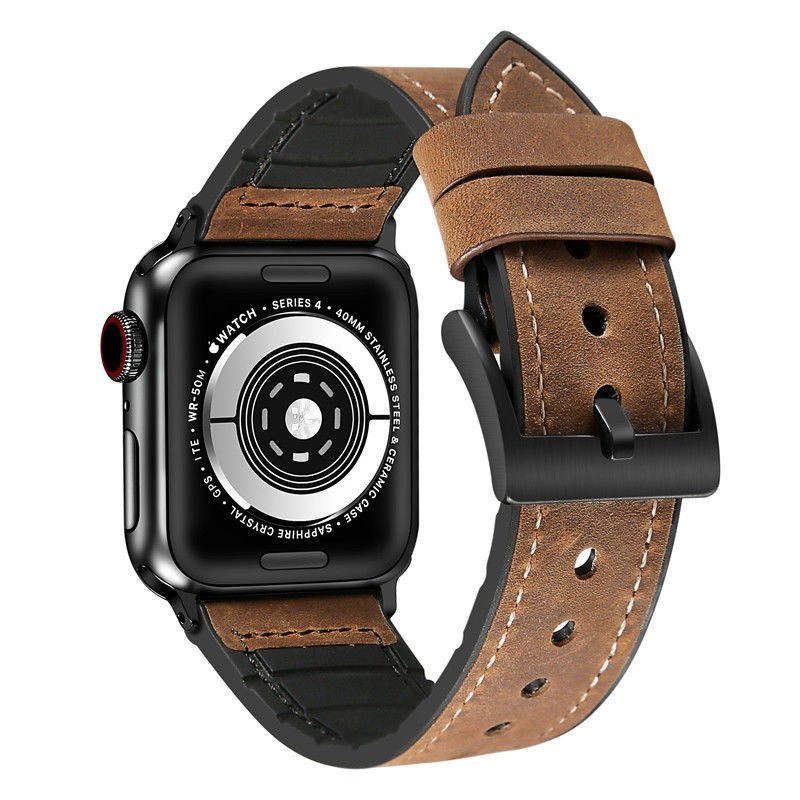 สายนาฬิกาข้อมือหนังสําหรับ Applewatch Serises6 / 5 Iwatch3 / 4Se