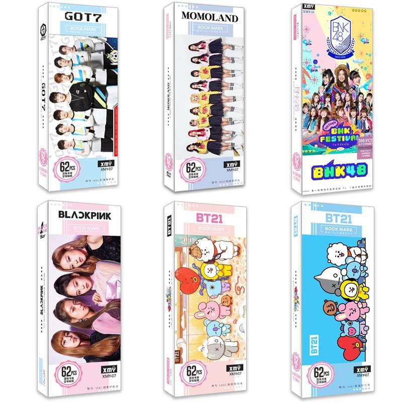 Kpop star Bookmark Paper Creative Gift BTS GOT7 IKON BNK48 BLACKPINK