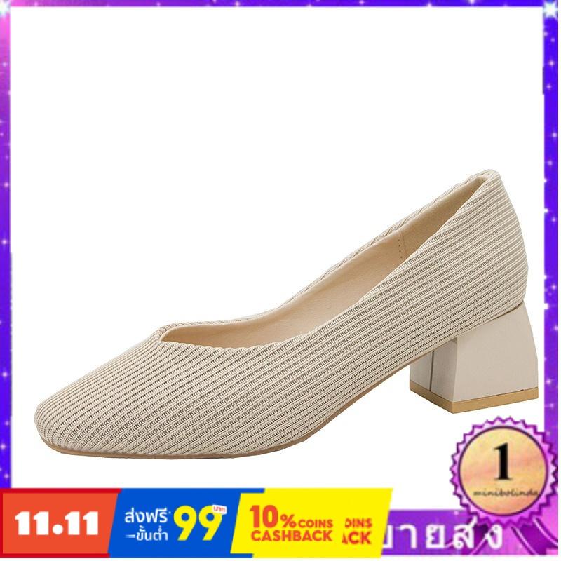 ⭐👠รองเท้าส้นสูง หัวแหลม ส้นเข็ม ใส่สบาย New Fshion รองเท้าคัชชูหัวแหลม  รองเท้าแฟชั่นรองเท้าผู้หญิงรองเท้าย้อนยุคบินทอกั