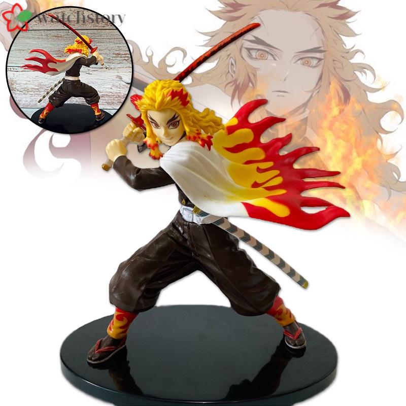 Demon Slayer Figure Toys Rengoku Kyoujurou Model Ornaments PVC Collectible Anime Action Character Model