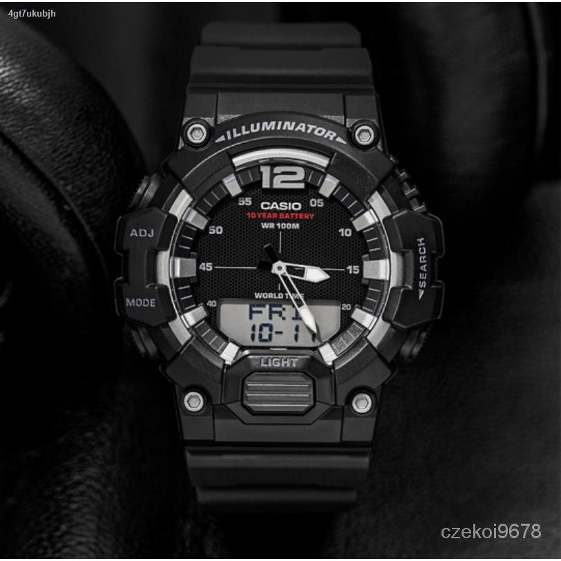 Lowest price▲♘นาฬิกา รุ่น HDC-700 CASIO นาฬิกาข้อมือผู้ชาย สายเรซิน HDC-700-1A สีดํา HDC-700-3A สีเขียว HDC-700-9A สีท