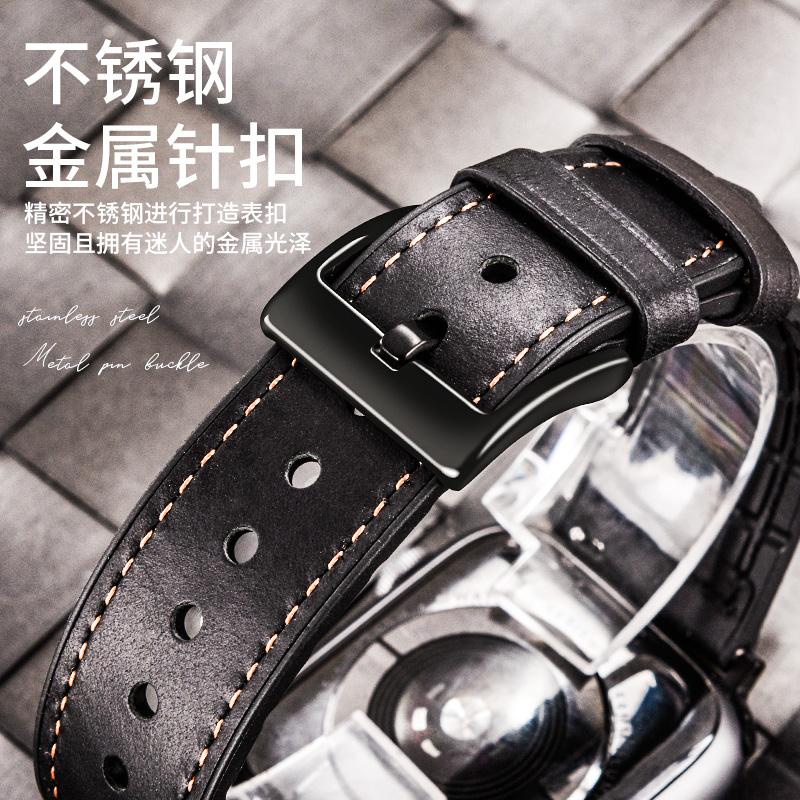 ₨➣Pzoz ใช้กับ Apple Watch iwatch6สาย applewatch5รุ่นหนังแอปเปิ้ล watch4ดูด้วย Series3หนัง/S6/S5/S4/2ผู้ชายและผู้หญิง se4