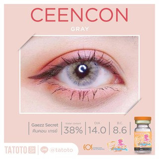 Review Ceecon L-gray TATOTO Contact Lenses บิ๊กอาย คอนแทคเลนส์