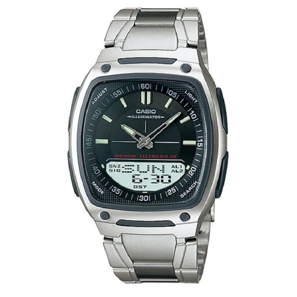 Casio Standard นาฬิกาข้อมือผู้ชาย สีเงิน สายสแตนเลส รุ่น AW-81D-1AVDF