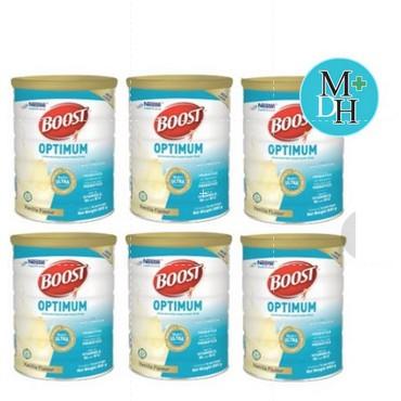Nestle Nutren Boost Optimum อาหารเสริม นิวเทรน ออปติมัม 800 กรัม 6 กระป๋อง (6X16038)