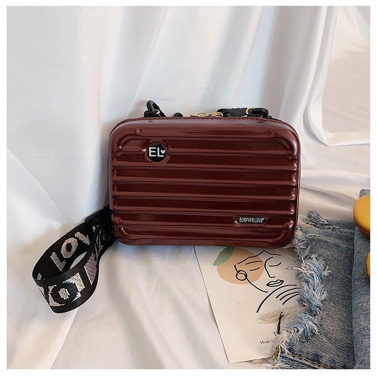 ♛◊✇มินิกระเป๋าเดินทางหญิงกระเป๋า Messenger กระเป๋าใบเล็กกระเป๋าเดินทางขนาดเล็กกระเป๋าเดินทางกล่องกระเป๋ากระเป๋าโทรศัพท์