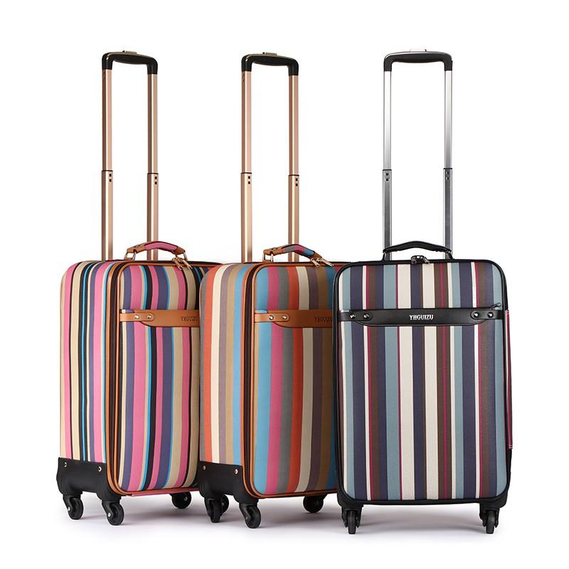 卐กระเป๋าเดินทางแบบล้อลากขนาด 16 นิ้ว ลายแฟชั่นน่ารัก กระเป๋าเดินทางใบเล็ก ตัวเมีย ล้อสากล 18 นิ้ว