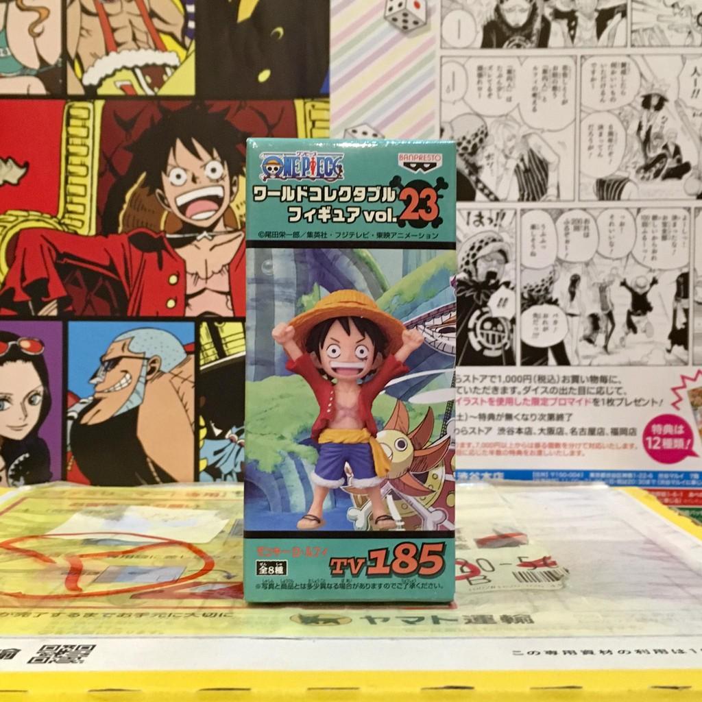 Tv 185 Luffy ลูฟี่ Vol.23 🔥โมเดล ฟิกเกอร์ WCF one piece วันพีซ🔥 ของแท้ ญี่ปุ่น💯