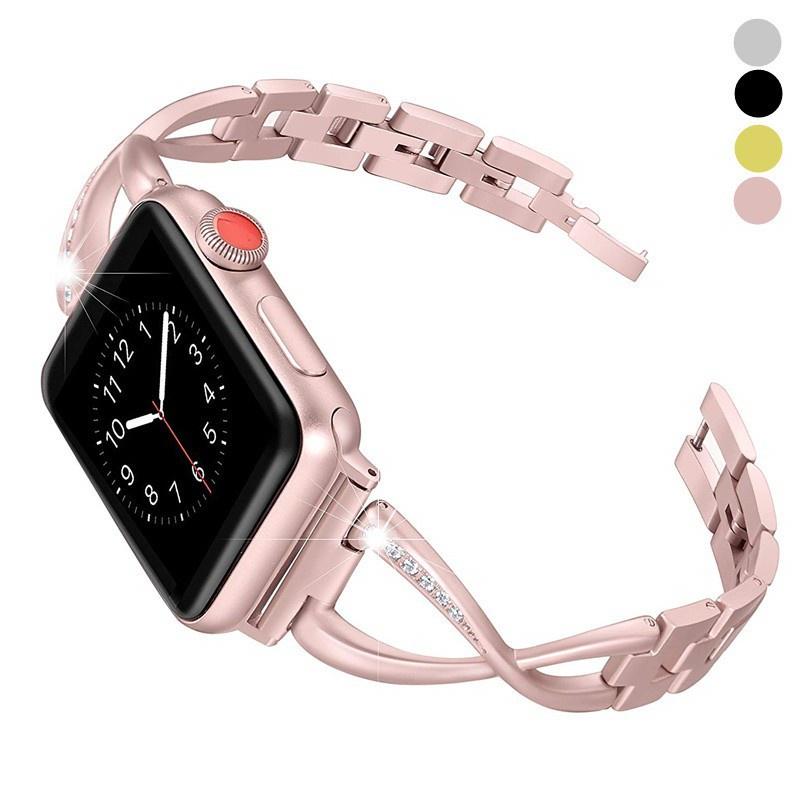 สาย applewatch ายนาฬิกา applewatch สายนาฬิกา Apple Watch Straps เหล็กกล้าไร้สนิม สาย Applewatch Series 6 5 4 3 Stainless