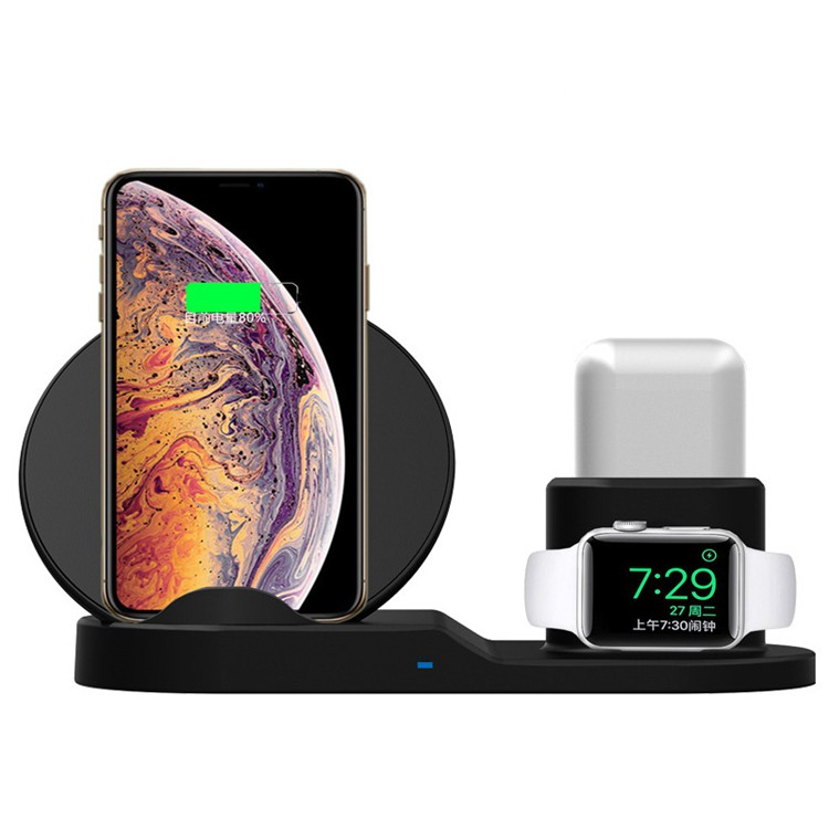 3 in 1 Fast Wireless Charger 7.5w Suitable for Apple Watch iWatch 1 2 3 4 Airpods Wireless Charging Stand