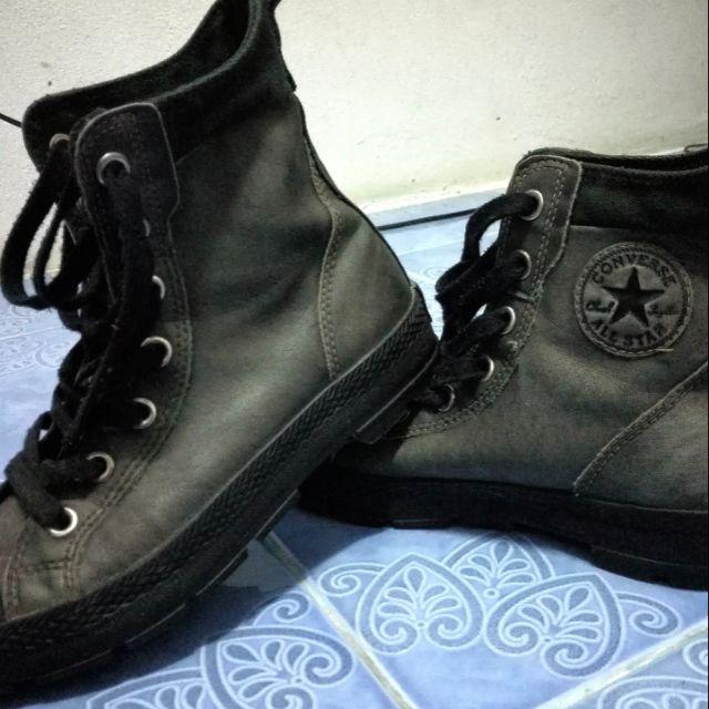 รองเท้าหนัง converse หุ้มข้อ (แท้) มือสอง สภาพสวย  size41-42