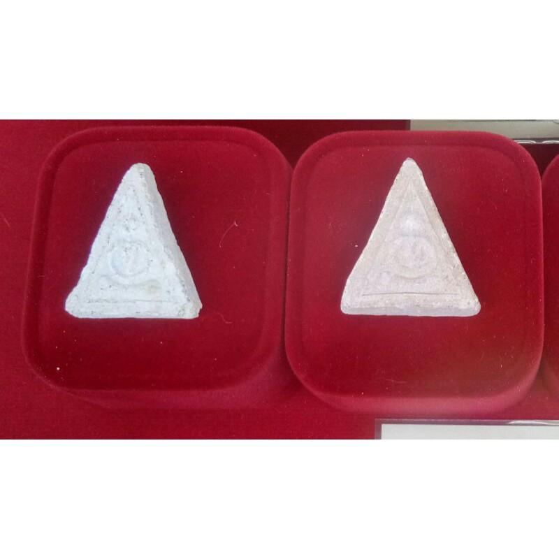 พระสมเด็จ พิมพ์สามเหลี่ยม หลวงพ่อฤาษีลิงดำ วัดท่าซุง ปลุกเสก