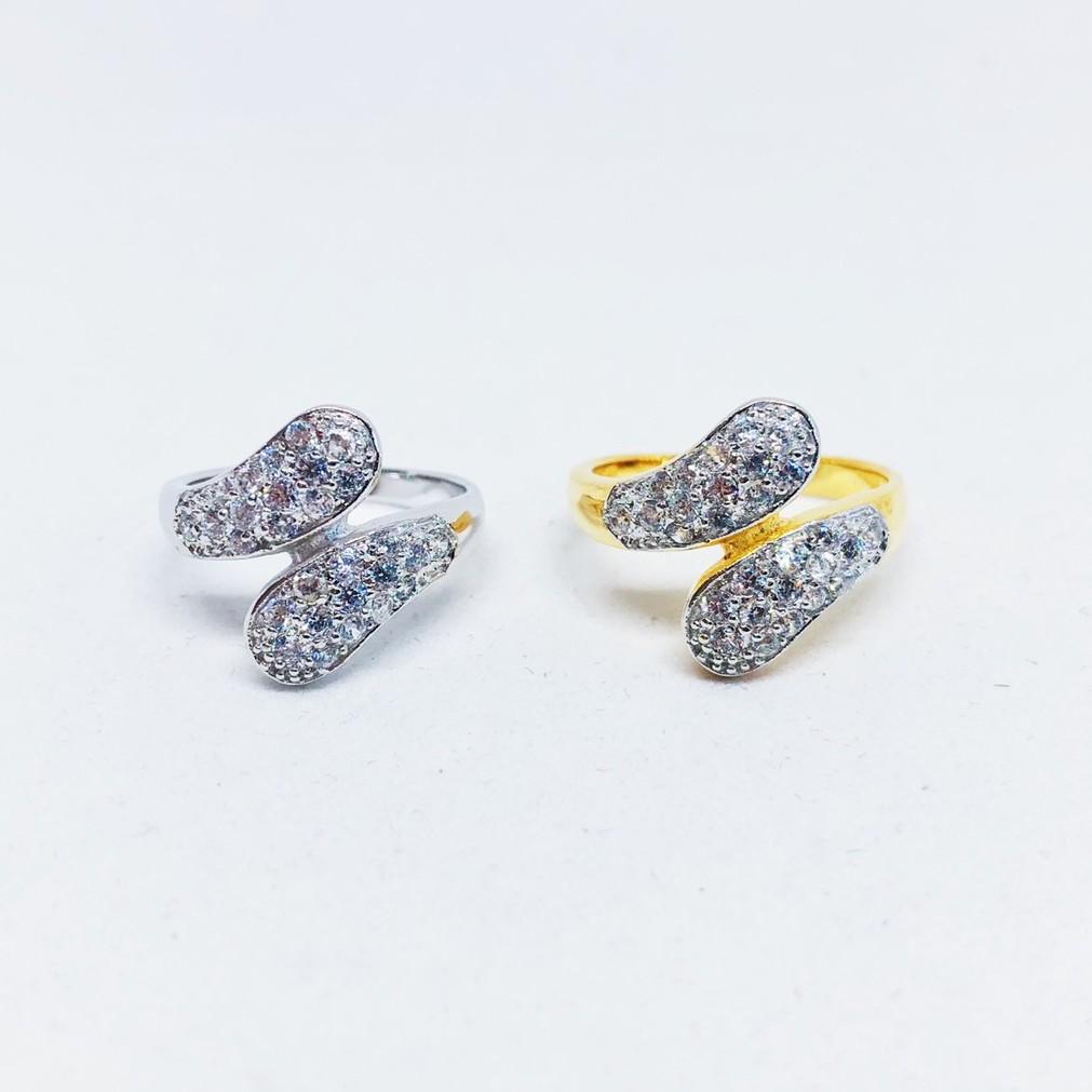 แหวนผู้หญิง เพชร cz ชุบทองไมครอน และทองคำขาว ราคาพิเศษ