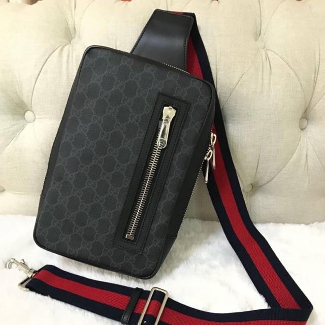 New Gucci Web stripe Supreme  belt bag