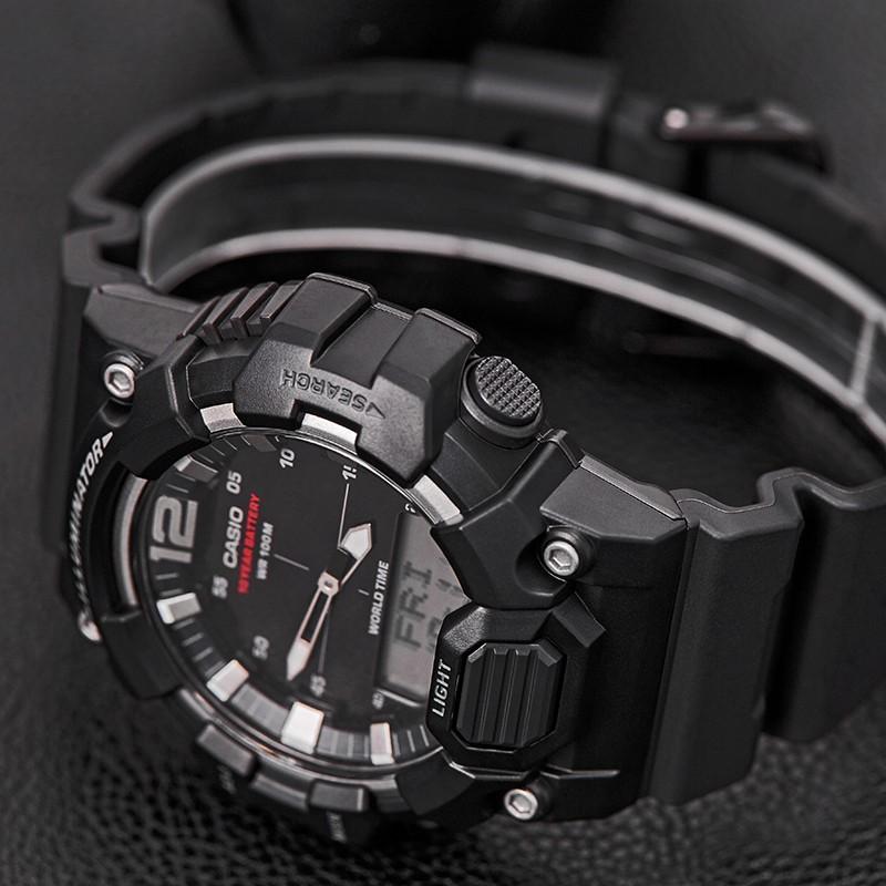 นาฬิกาคาสิโอ Casio นักเรียนชายเทรนด์กีฬากันน้ำพลังสิบปีนาฬิการะบบควอทซ์แท้ HDC-700