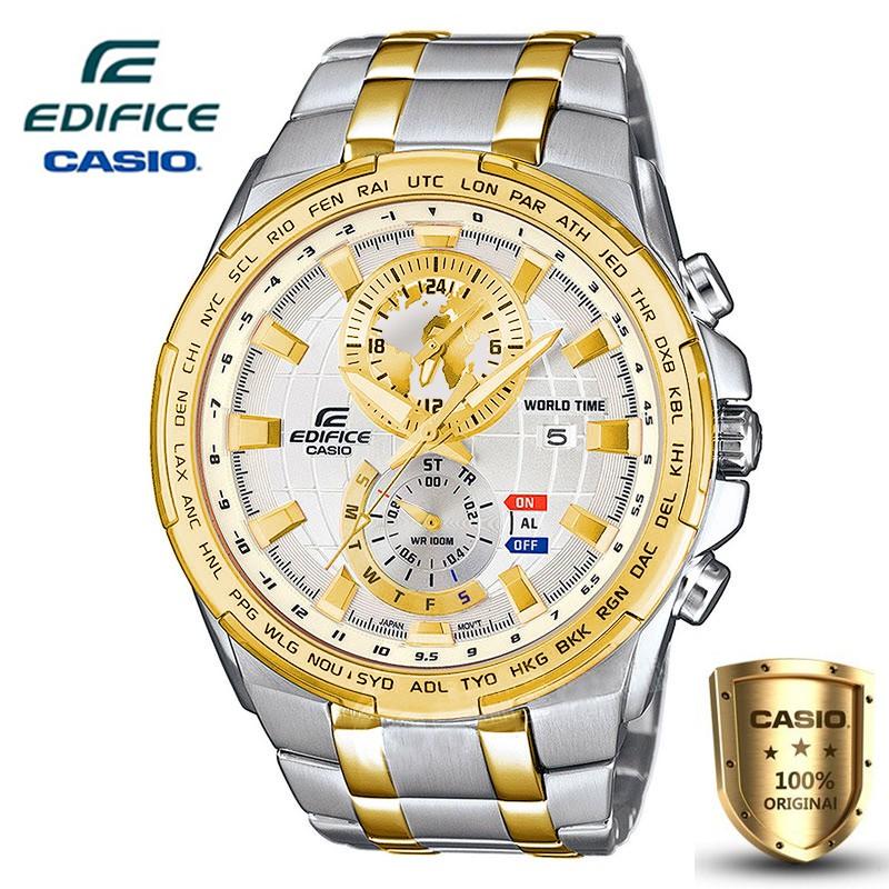 Casio Edifice รุ่น EFR-550D-3A สินค้าขายดี นาฬิกาข้อมือผู้ชาย สายสแตนเลส (สินค้าใหม่ล่าสุด)