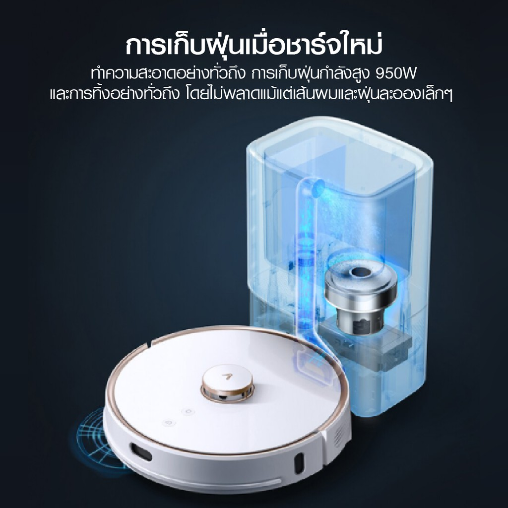 [รับ 500 Coins โค้ด SPCCB4QKCC] หุ่นยนต์ดูดฝุ่น Viomi S9 Auto Dust Collection Vacuum Cleaner -30D