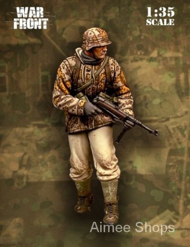 Unpainted Kit 1/35 Panzergrenadier Ardennes  ANCIENT figure Historical  Resin Figure miniature garage kit oqH0