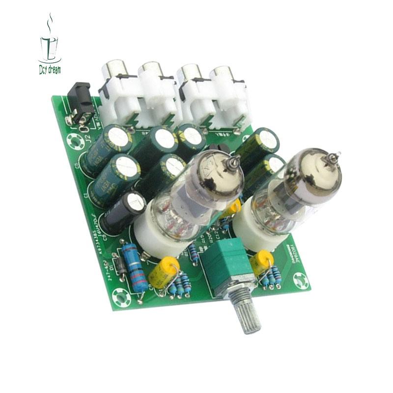 Aoshike 6J1 Valve Tube Preamp Bile Buffer DIY Kit Pre-amp Amplifier Board  Headphone Amp Preamplifier