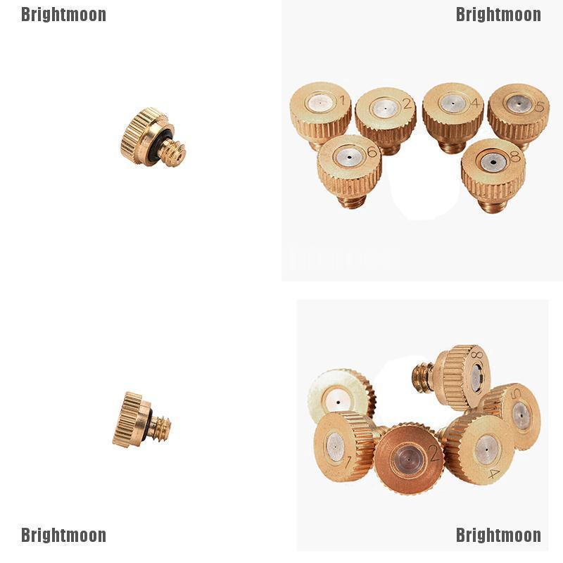 5 Brass Misting Nozzles Stainless Steel Orifice 0.1//0.2//0.3//0.4//0.5//0.6//0.8mm TO