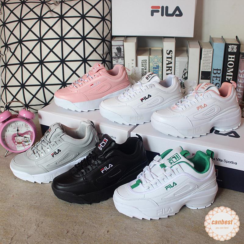 Original Fila DISRUPTOR รองเท้าผ้าใบรองเท้าวิ่ง