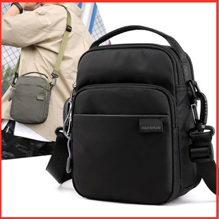 Review กระเป๋าสะพายข้างผู้ชาย กระเป๋าคาดเอว Men's sports waterproof and durable multi-function outdoor casual fashion chest bag