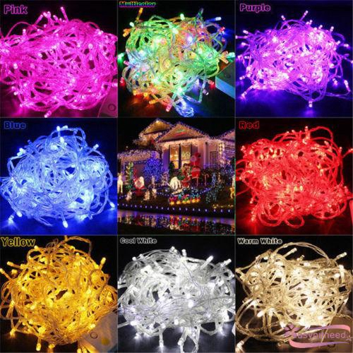White Lace Ball String Lights Led Fairy Lantern Christmas Garland Home Decors