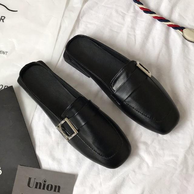 💜💜Mules รองเท้าผู้หญิง เกาหลี รองเท้า  รองเท้าผู้หญิง รองเท้าคัชชู ส้นสูง แฟชั่น ส้นสูง รองเท้าคัทชูผู้หญิง💜💜