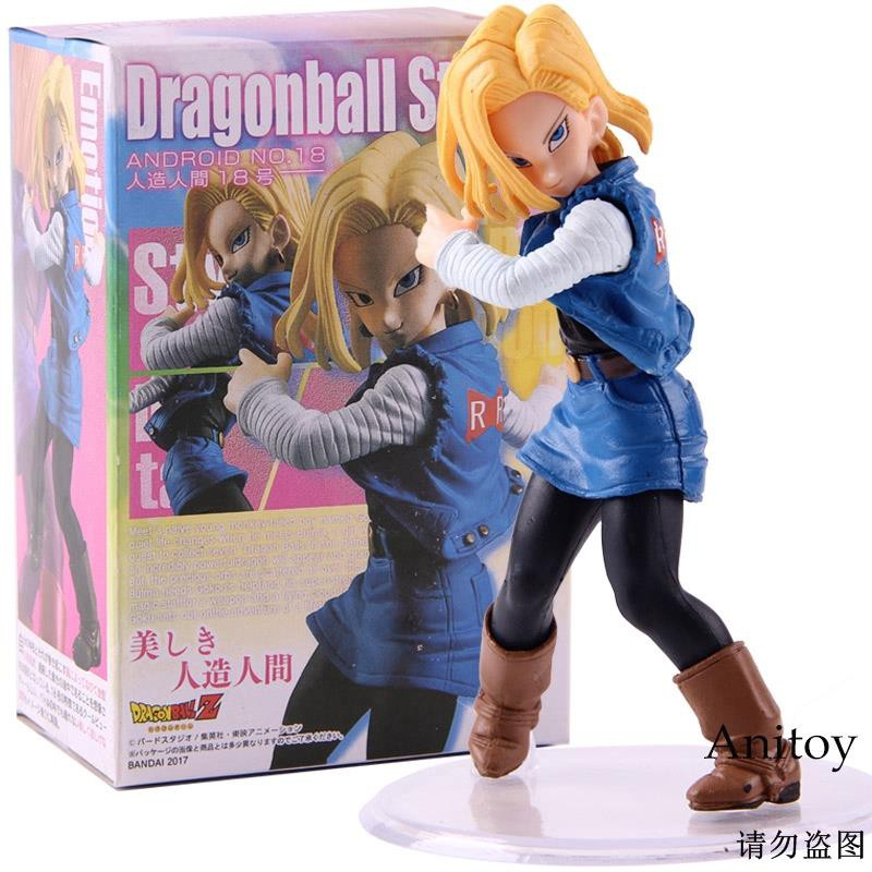 ชอบซื้อฟิกเกอร์ Anime Dragon Ball stesting Android 18 Action Figure