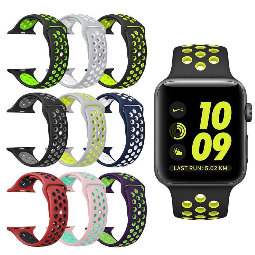 สายนาฬิกาข้อมือ ซิลิโคน สำหรับ Apple Watch Band 42 มม. 38 มม. 40 มม. 42 มม  For iwatch Series  6 SE 5 4 3 2 1 Bands.