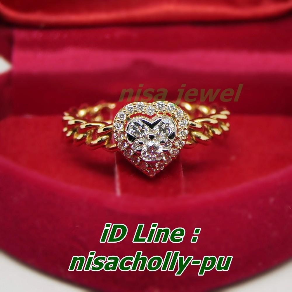 แหวนทิฟฟานี่เพชรแท้! พิงค์โกลด์ 18k หัวใจ อมตะ (ทองpink gold จาก อิตาลีแท้) ส่วนผสมจะดีกว่าบ้านเรา สีสวยงาม ทน